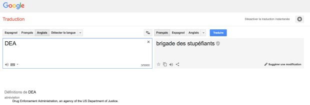 DEA par Google Traduction