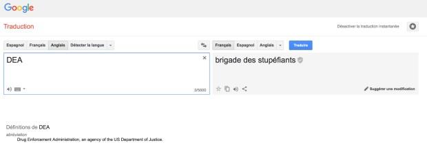 DEA par Google Traduction
