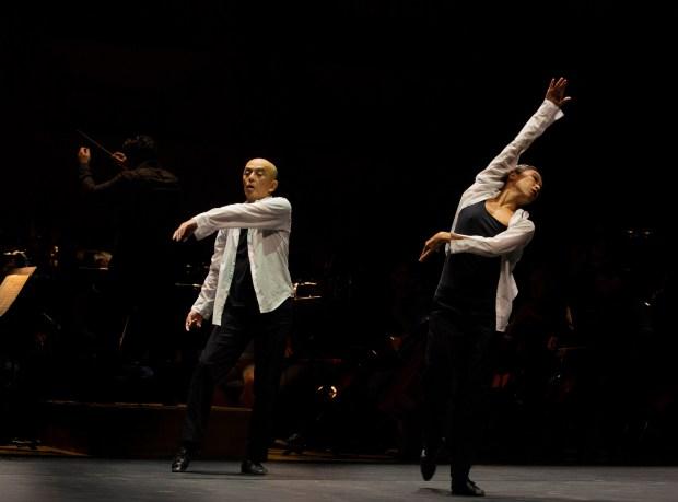 Saburo Teshigawara et Rihoko Sato, Biennale de la danse de Lyon 2018 © Michel Cavalca