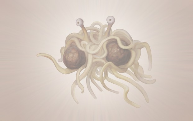 Le Flying Spaghetti Monster, alias le Monstre en Spaghettis Volant
