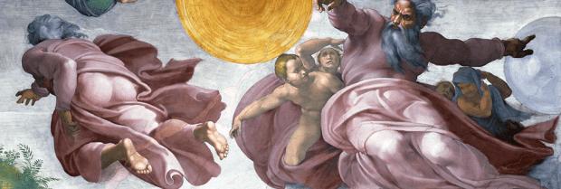 Michel-Ange, La création du soleil, de la lune, et des plante, Chapelle Sixtine
