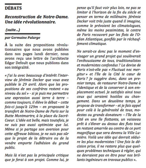 Notre-Dame (débats) © Philippe Mignon