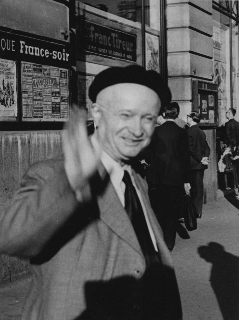 Pierre Monatte, 1952. Photo Gilbert Walusinski.