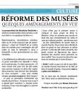 Réforme des musées (suite)