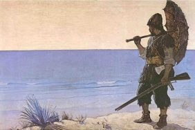 Robinson Crusoé illustré par N.C. Wyeth (1920)