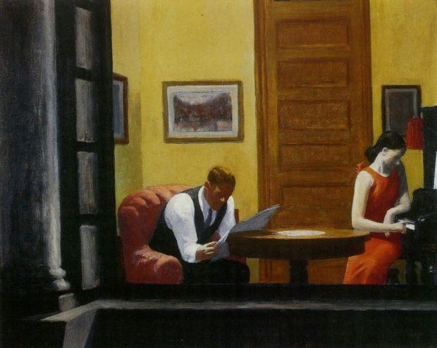 Room in New York, Edward Hopper, 1932