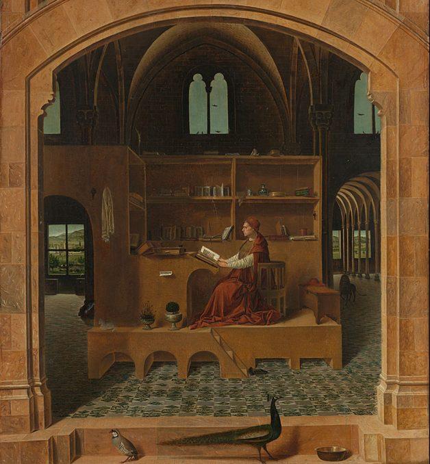 Saint Jérôme dans son étude par Antonello de Messine (ca 1475) National Gallery, London