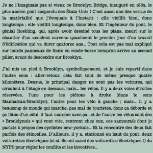 Un marcheur à New York, chapitre 21, par Antoine de Baecque
