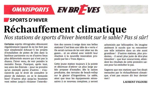 Réchauffement climatique: nos stations de sports d'hiver bientôt sur le sable?