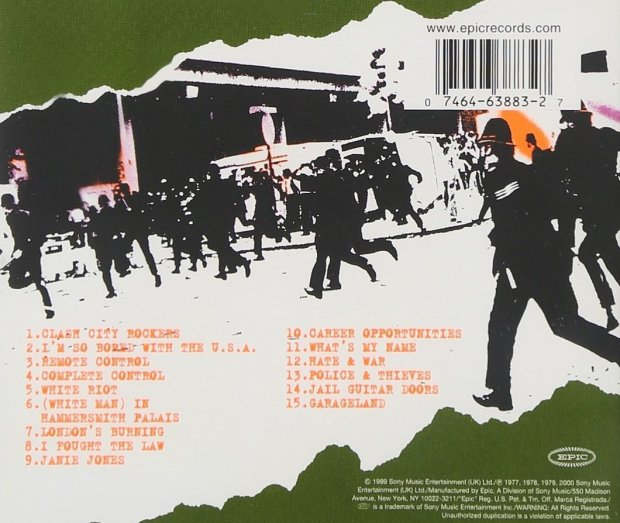 The Clash - White Riot single (back)