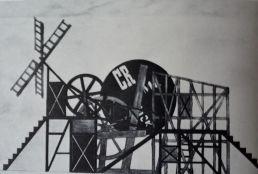 Maquette du décor de Lioubov Popova pour Meyerhold