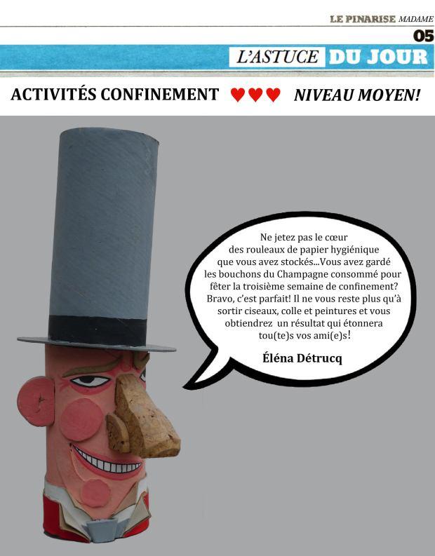 Activités confinement