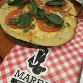Pizzeria Marea targets the tourist/expat population, but there were locals here as well. The wood-fired pizza was YUM!