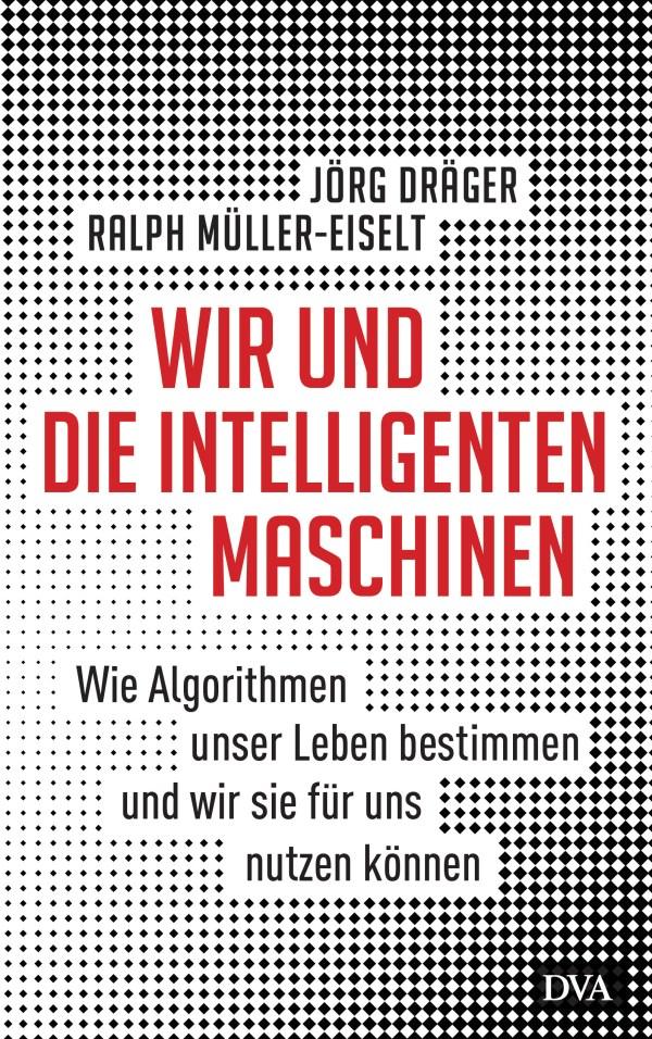 Buchcover, Text vor gepixeltem Hintergrund