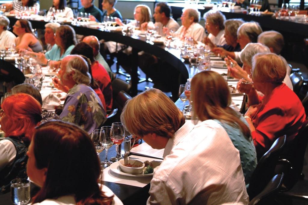 People at wine tasting