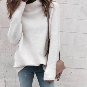 Pull blanc manches longues
