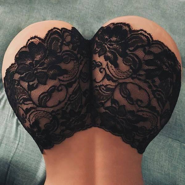 Culotte Femmes Sexy Lingerie sous-vêtements en dentelle dentelle florale Sexy taille élastique