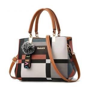Casual Plaid Shoulder Bag for Women