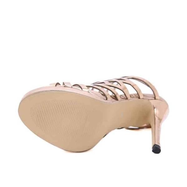 Sandales ouvertes à talons fins pour femmes