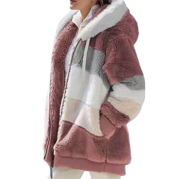 Veste peluche capuche chaude à manches longues 8