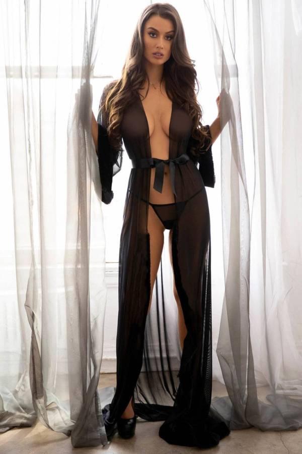 Robe de nuit longue en Tulle pour femmes 7