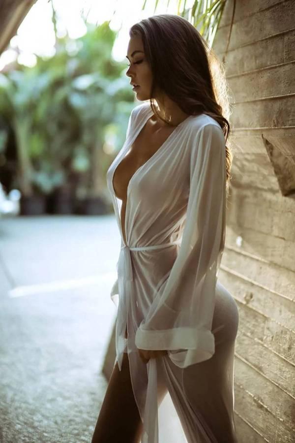 Robe de nuit longue en Tulle pour femmes 5