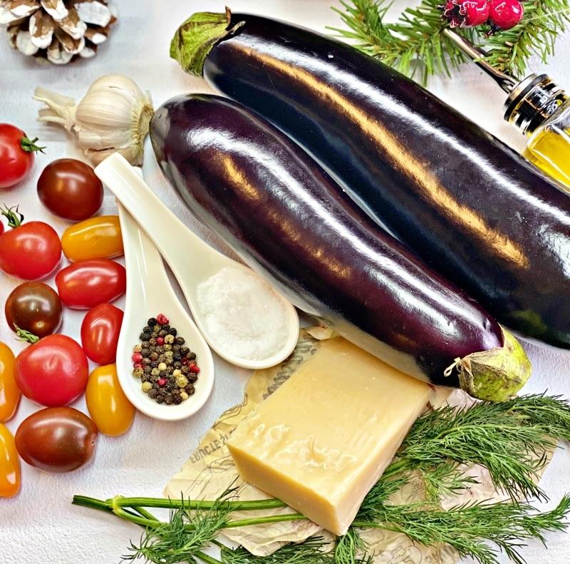 Baked eggplant ingredients