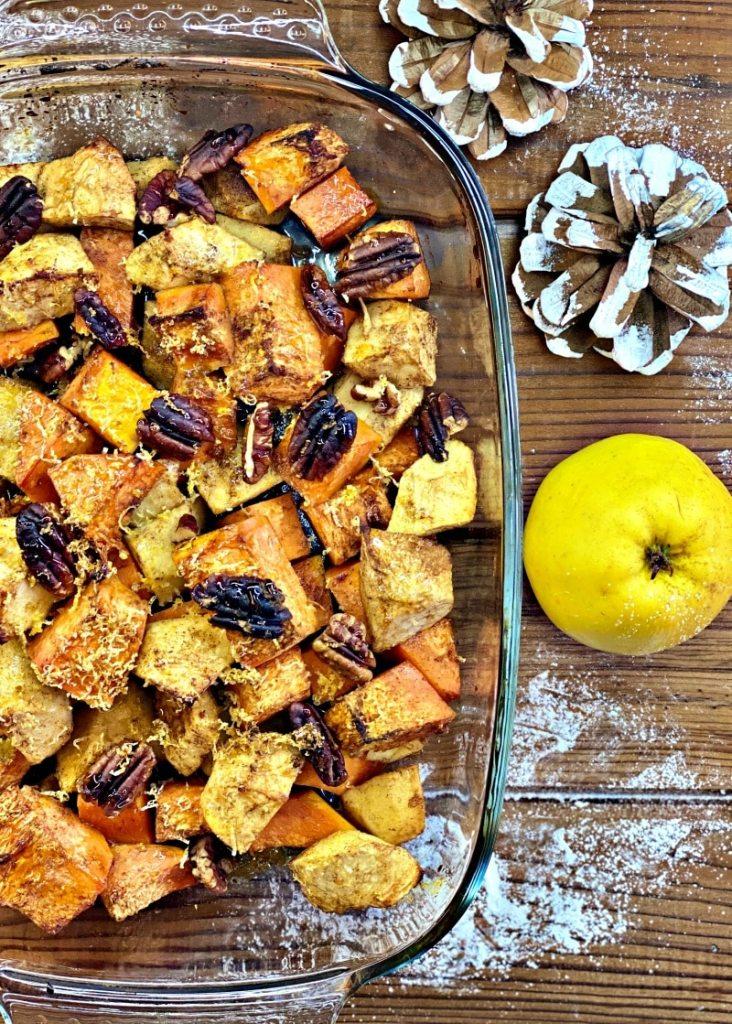 Baked pumpkin and apple casserole
