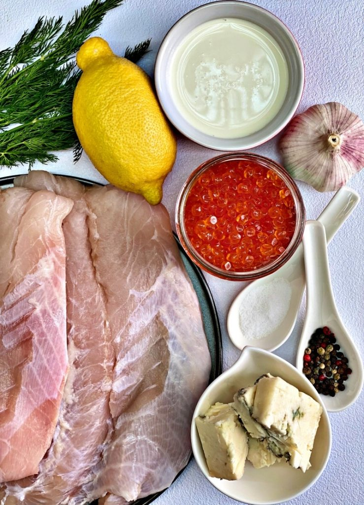 White fish and the ingredients