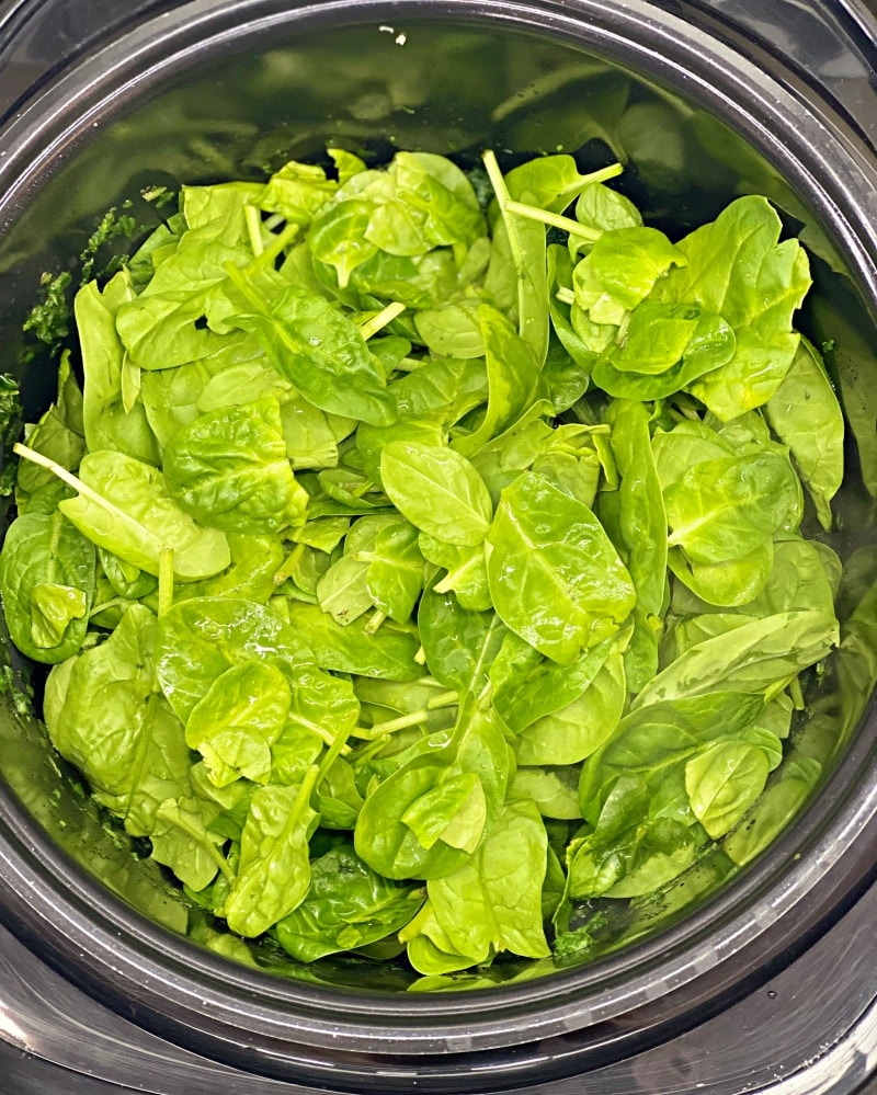 spinach recipe instant pot