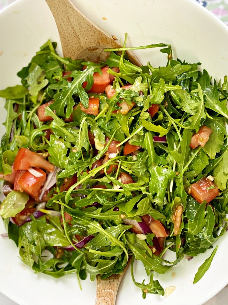 arugula tomatoes salad recipe