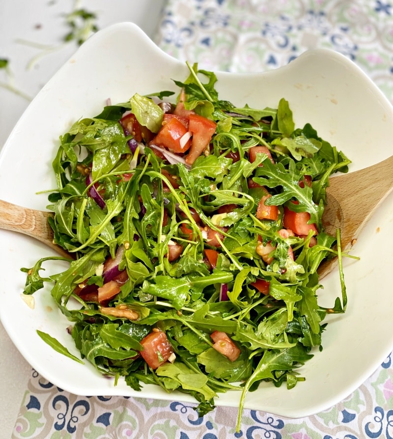 easy arugula tomato salad recipe