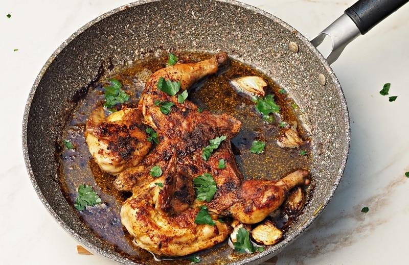Pan-Fried Crispy Butterflied Chicken
