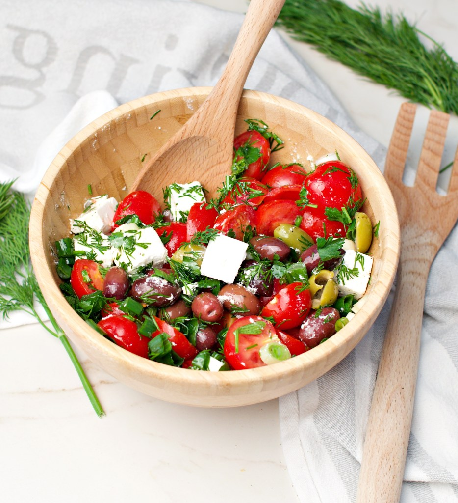 Colorful Tomato Feta & Olives Salad