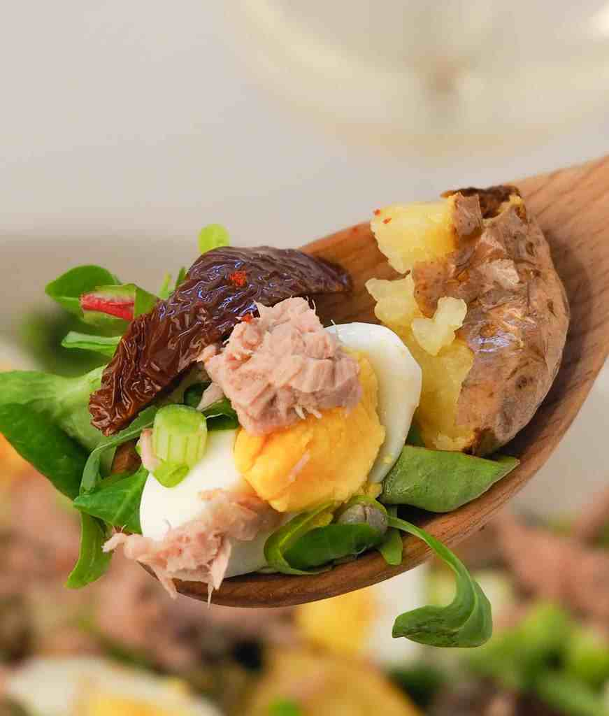 Country Tuna Salad with Eggs and Potatoes