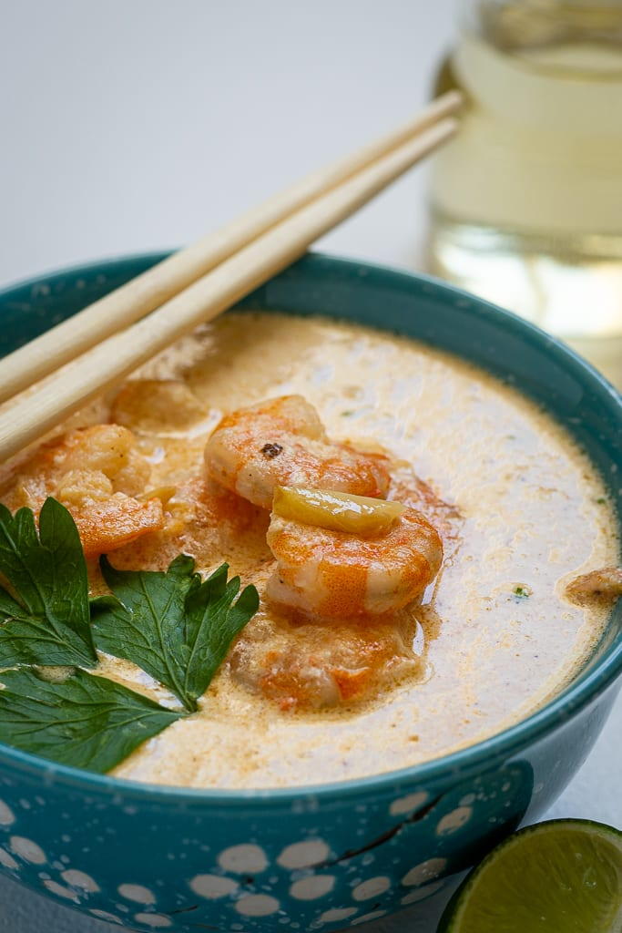 shrimps in creamy sauce