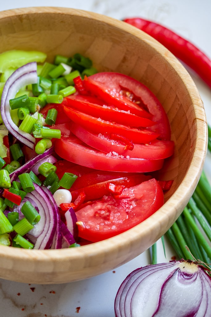 tomato salad country style