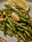 Sauteed Green Beans with Bacon and Garlic