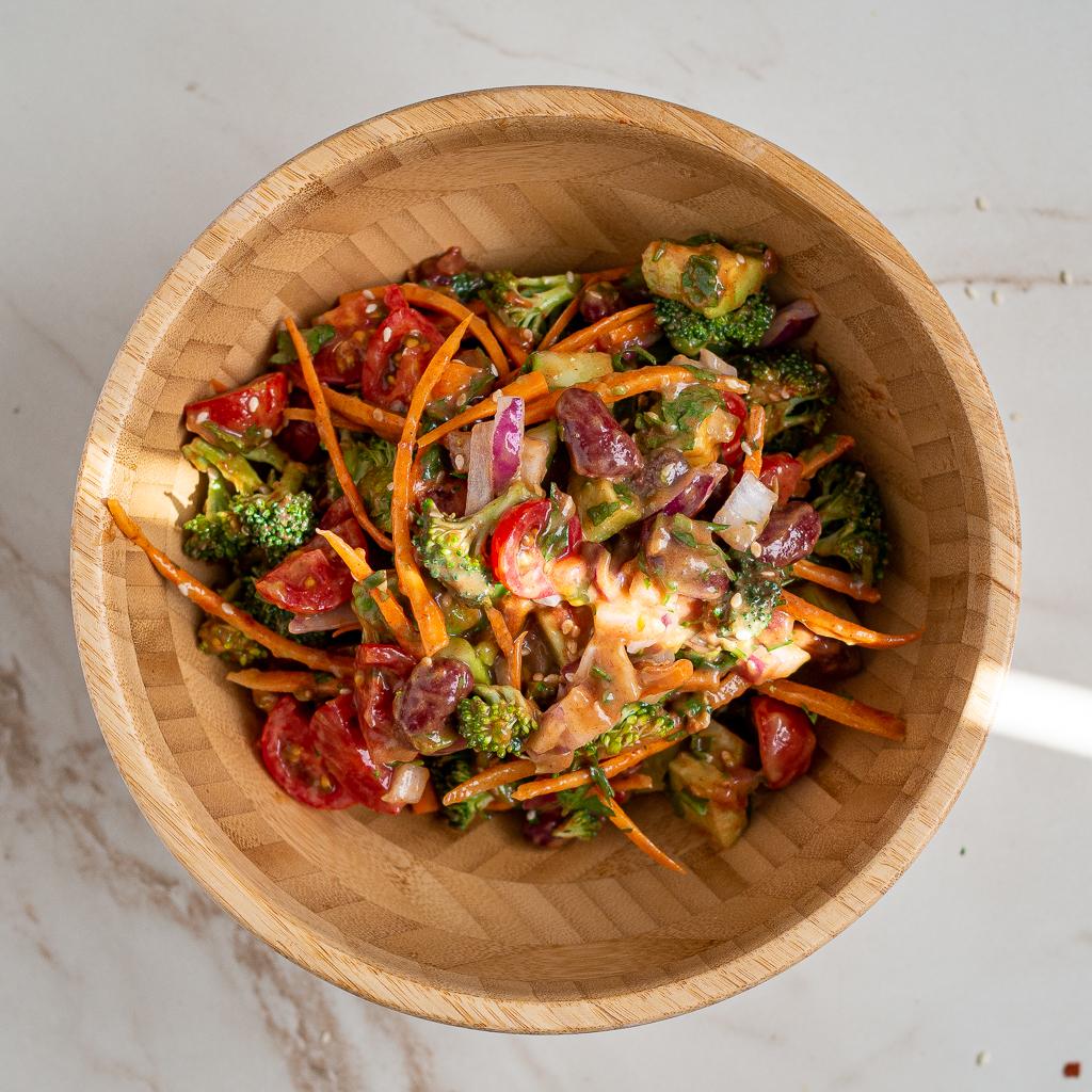 Healthy and Vegetarian Salad Bowl