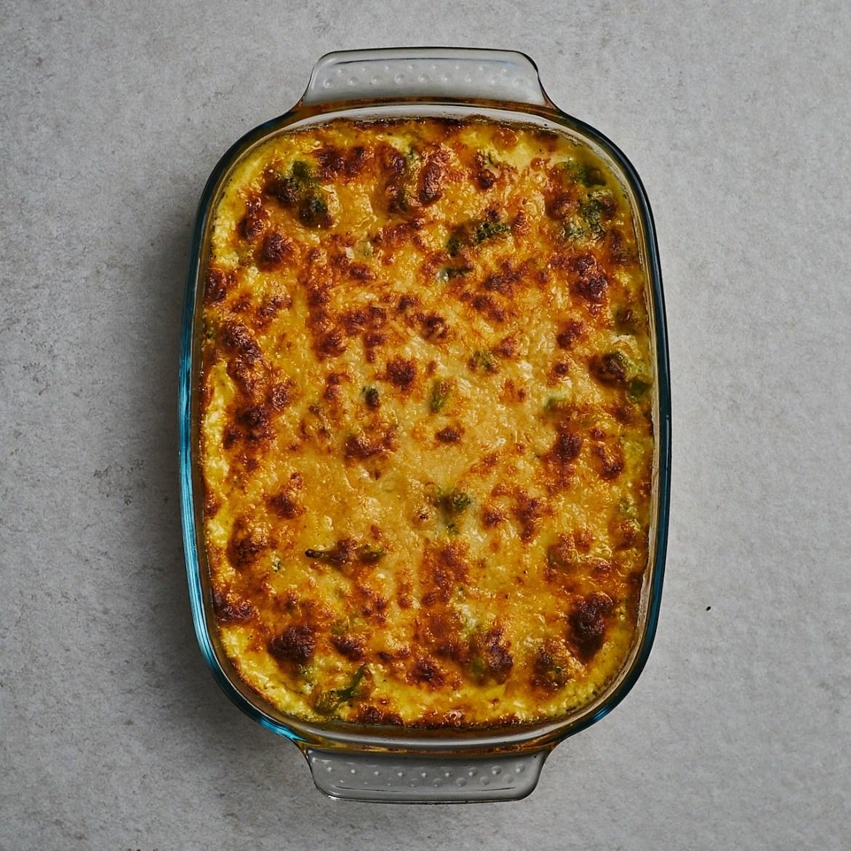 baked cheese broccoli casserole