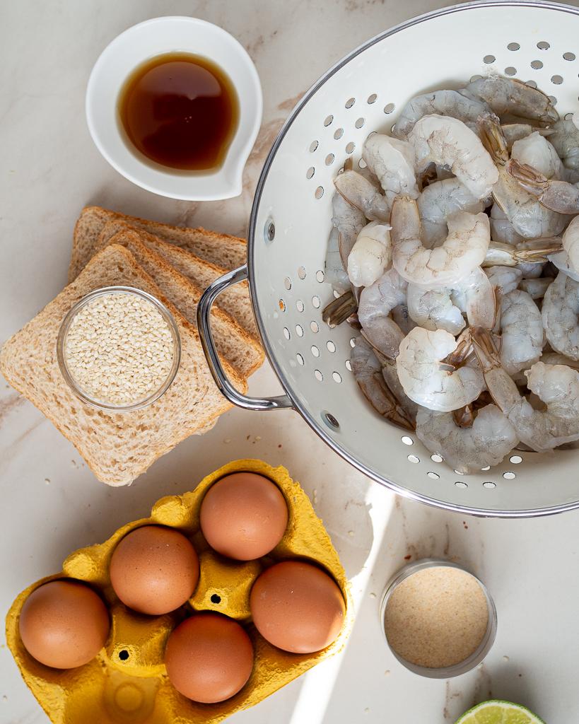 ingredients for shrimp toast