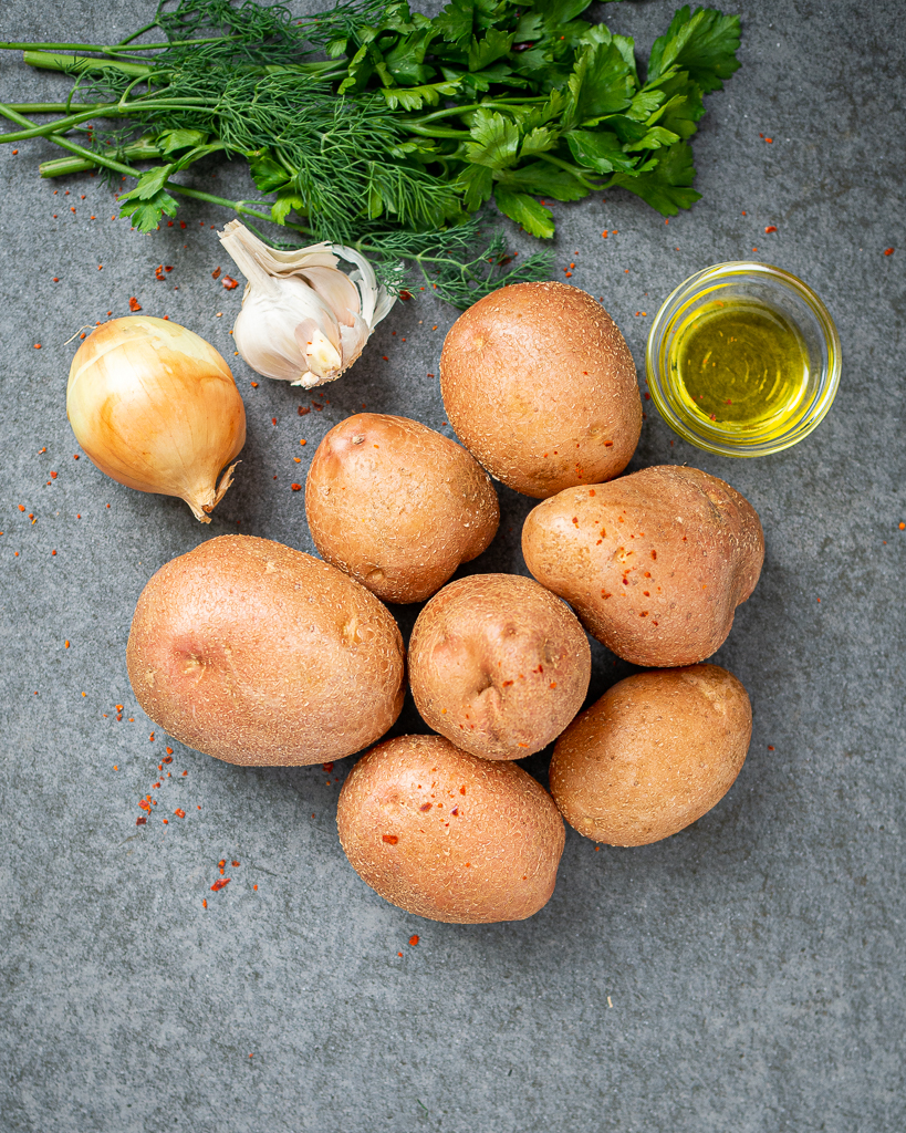 Fried potatoes ingredients