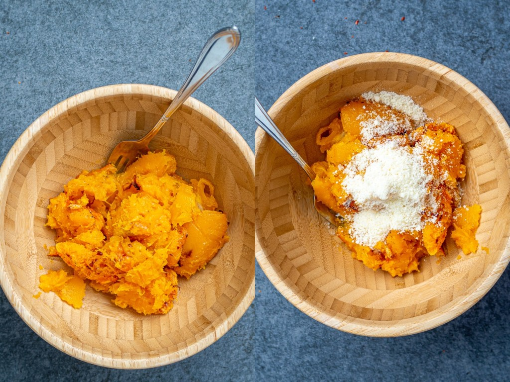 Mashed Butternut Squash with Parmesan