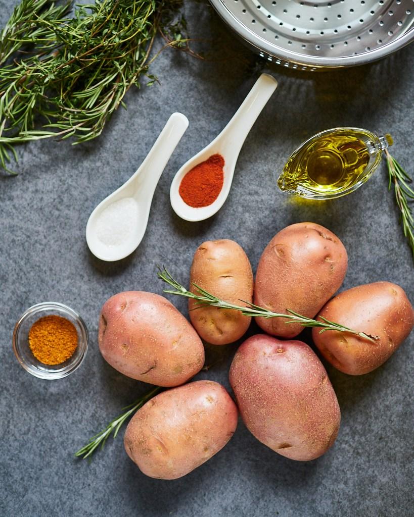 Crispy Airfryer Potato Wedges Ingredients
