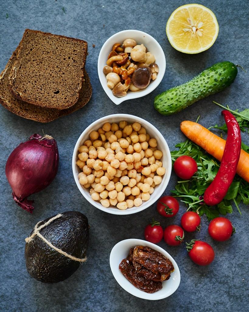 Best Veggie Hummus Sandwich Ingredients