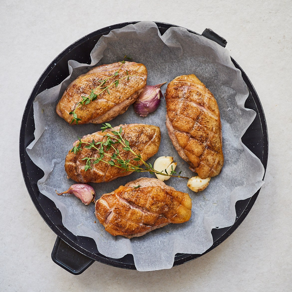 how to oven bake breast duck