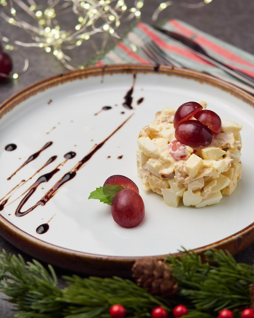 Leftover Chicken Salad with Grapes