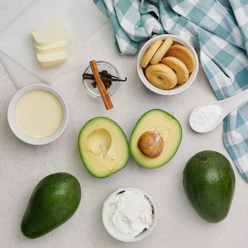 Creamy Avocado Dessert Mousse Ingredients