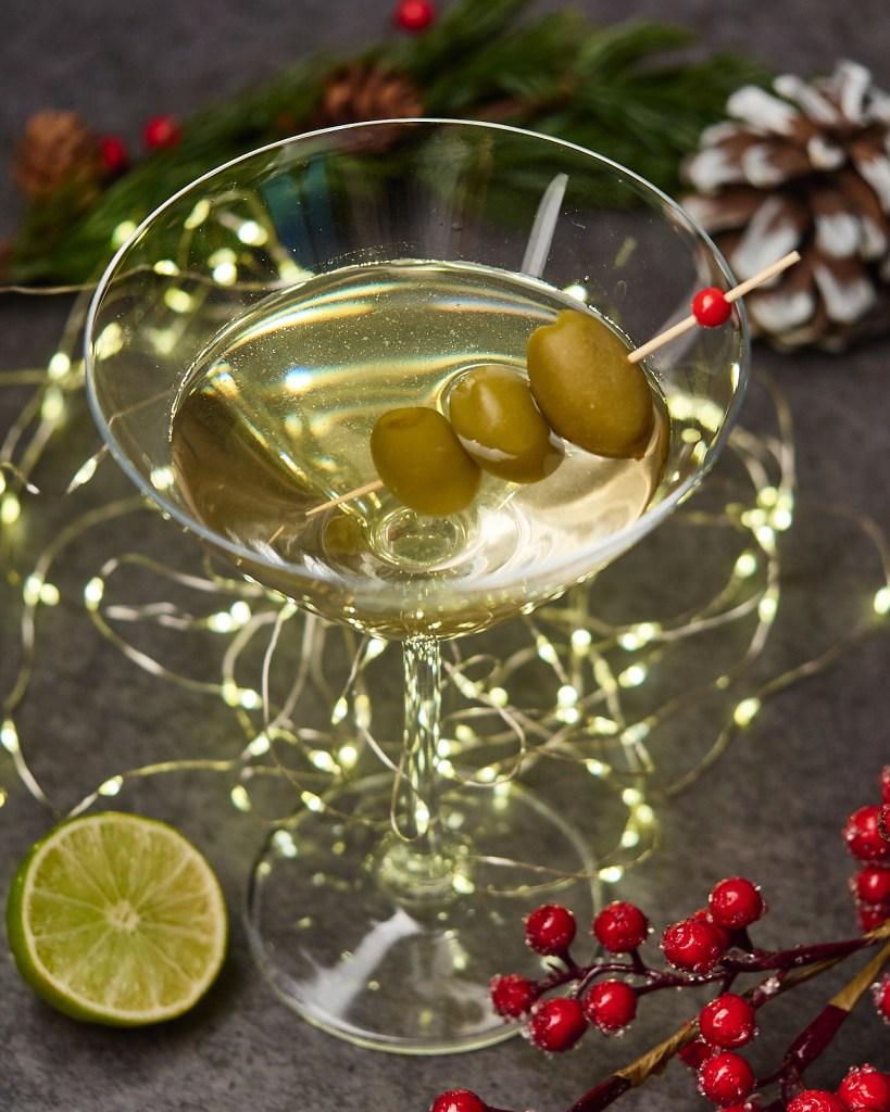 Christmas Dirty Martini with Vodka