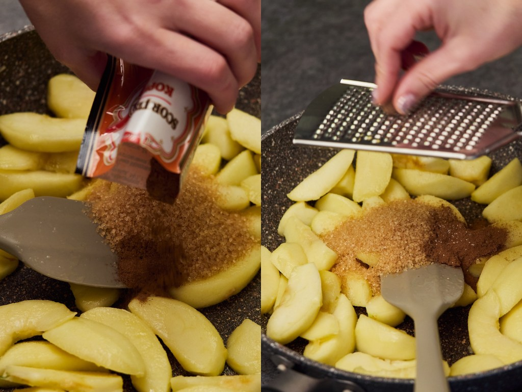 Caramelized and Warm Cinnamon Apples